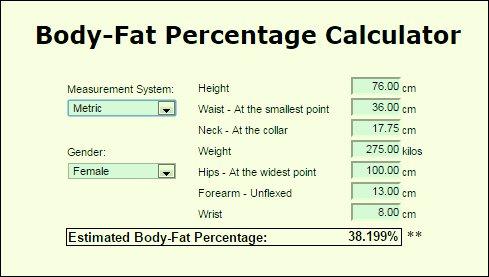 calcolare la percentuale di grasso corporeo